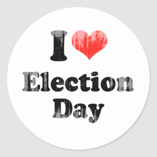I LOVE ELECTION DAY png Stickers