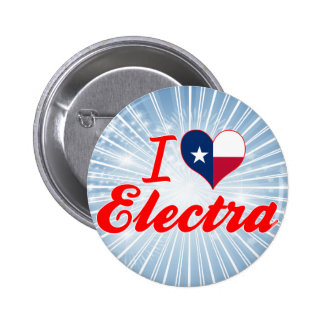 I Love Electra, Texas Pinback Buttons