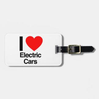 i love electric cars luggage tag