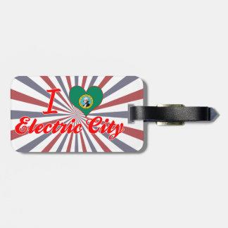 I Love Electric City Washington Luggage Tag