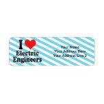I Love Electric Engineers Return Address Labels