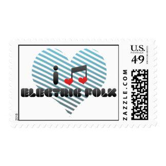 I Love Electric Folk Postage Stamp