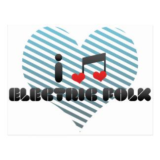 I Love Electric Folk Postcard