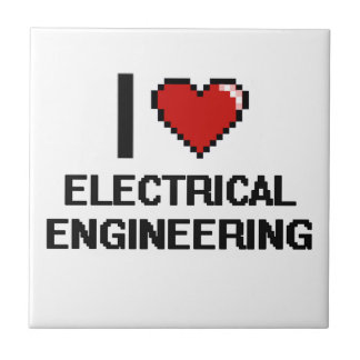 I Love Electrical Engineering Digital Design Small Square Tile