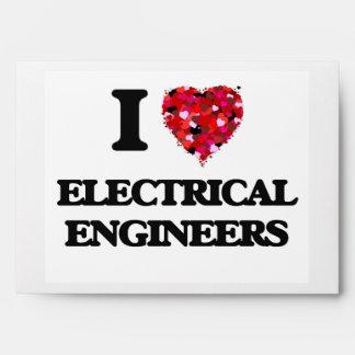 I love Electrical Engineers Envelope