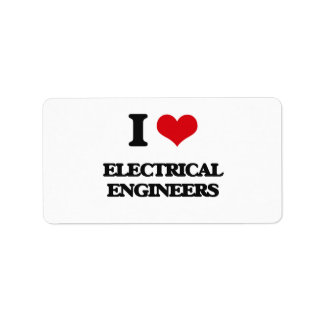I love Electrical Engineers Address Label