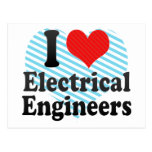 I Love Electrical Engineers Postcards