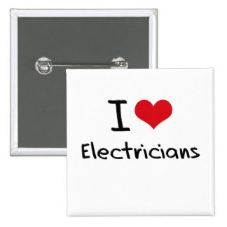 I love Electricians Pin