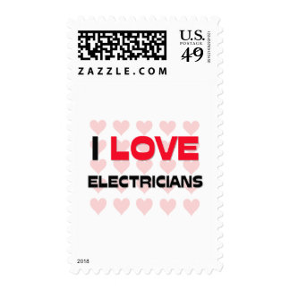 I LOVE ELECTRICIANS STAMPS