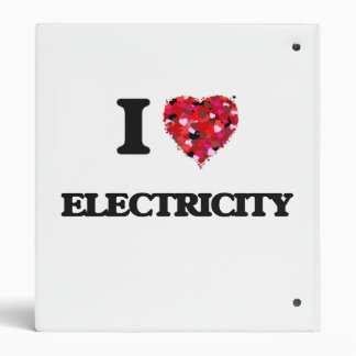 I love Electricity 3 Ring Binders
