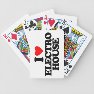 I LOVE ELECTRO HOUSE BICYCLE PLAYING CARDS