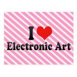 I Love Electronic Art Post Card