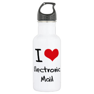 I love Electronic Mail 18oz Water Bottle