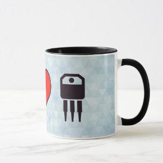 I Love Electronic Transistors Mug