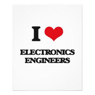 I love Electronics Engineers Custom Flyer