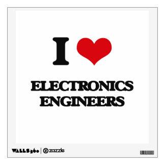 I love Electronics Engineers Room Sticker