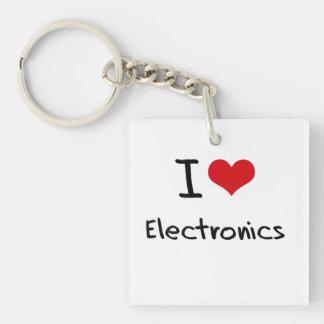 I love Electronics Single-Sided Square Acrylic Keychain