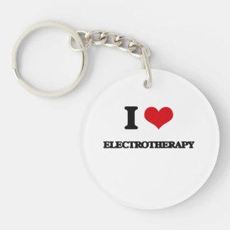 I love ELECTROTHERAPY Single-Sided Round Acrylic Keychain