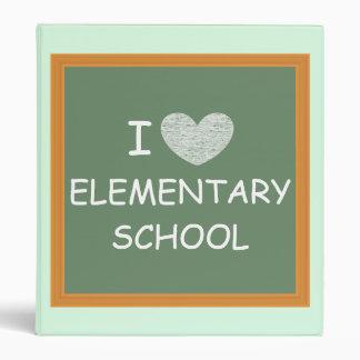 I Love Elementary School Binder