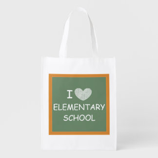 I Love Elementary School Reusable Grocery Bag