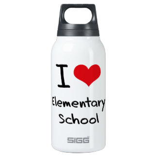 I love Elementary School 10 Oz Insulated SIGG Thermos Water Bottle