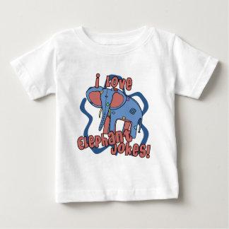 I Love Elephant Jokes Baby T-Shirt