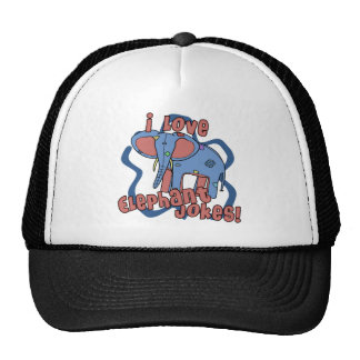 I Love Elephant Jokes Hat