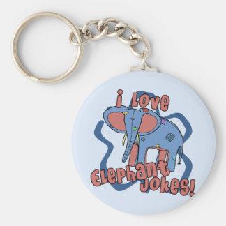 I Love Elephant Jokes Keychain