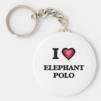 I Love Elephant Polo Keychain