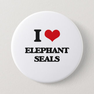 I love Elephant Seals Button
