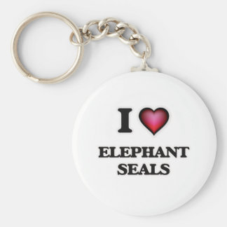 I Love Elephant Seals Keychain