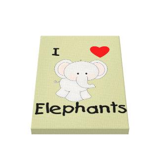 I Love Elephants (2) Canvas Print