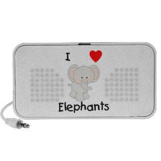 I Love Elephants (2) Laptop Speakers