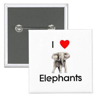 I love elephants Button