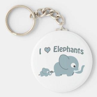 I love elephants. keychain