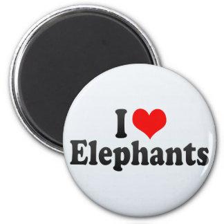 I Love Elephants Magnets