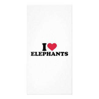 I love Elephants Photo Card