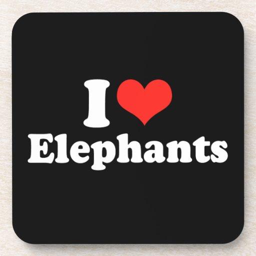 I LOVE ELEPHANTS.png Coaster