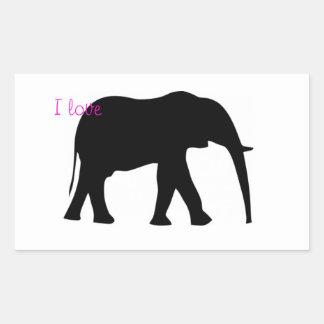I love elephants! rectangle stickers