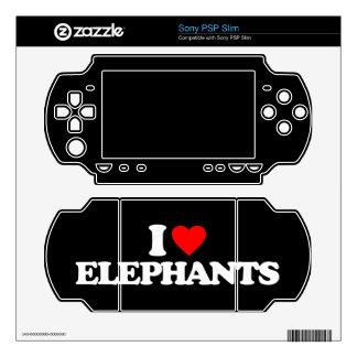 I LOVE ELEPHANTS SONY PSP SLIM DECAL