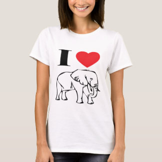 I Love Elephants T Shirt