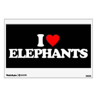 I LOVE ELEPHANTS WALL STICKER