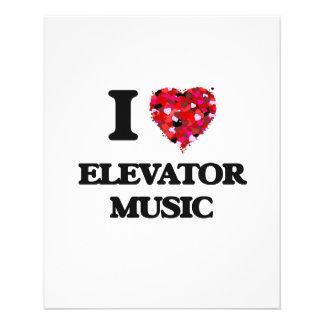 "I love Elevator Music 4.5"" X 5.6"" Flyer"