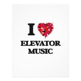 "I love Elevator Music 8.5"" X 11"" Flyer"