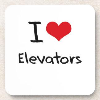 I love Elevators Beverage Coaster