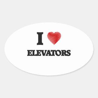 I love ELEVATORS Oval Sticker