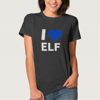 I Love Elf T Shirt (black)