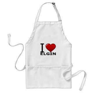 I LOVE ELGIN,IL - ILLINOIS ADULT APRON