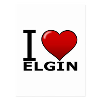 I LOVE ELGIN,IL - ILLINOIS POSTCARD
