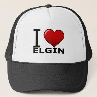 I LOVE ELGIN,IL - ILLINOIS TRUCKER HAT